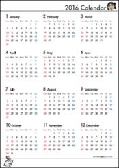 2016 カレンダー | Imgzz : スケジュール帳ダウンロード 2015 : すべての講義